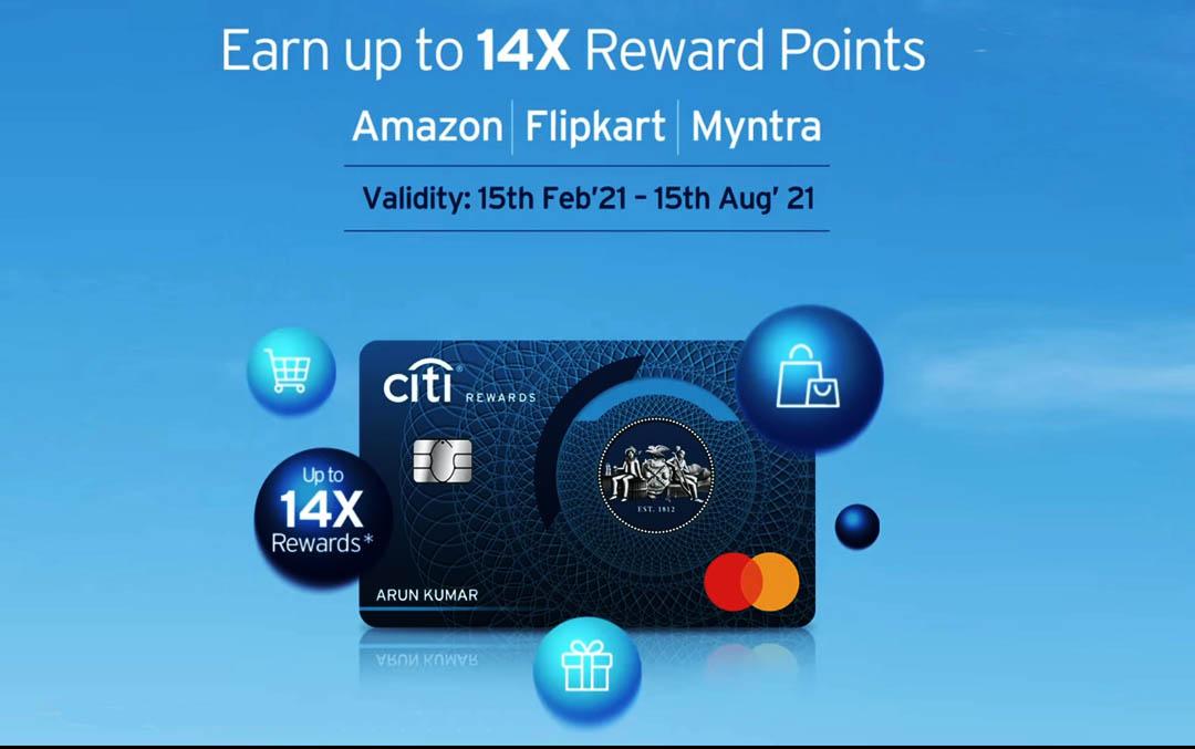 Citibank Amazon Flipkart Myntra Offer