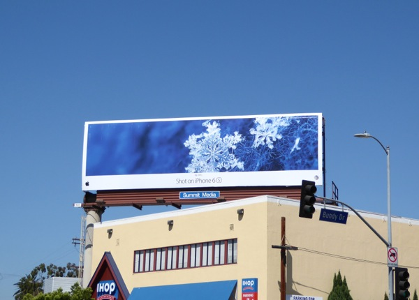 Shot on iPhone 6s Jill L Snowflake billboard