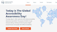 Global Accessibility Awareness Day 21 May 2020