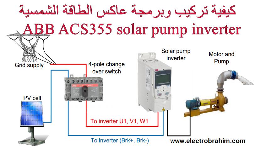 كيفية تركيب وبرمجة عاكس الطاقة الشمسية on