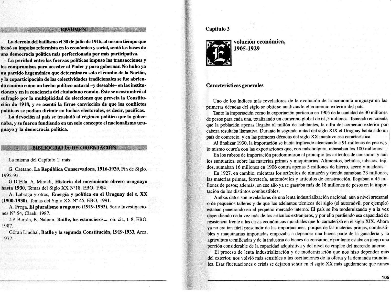 Manual de Historia Nacional- Tomo II 1903-2000 Benjamín Nahum. Editoral  Banda Oriental. Montevideo. Uruguay