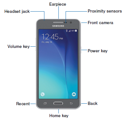 Samsung Galaxy Grand Prime - Front View