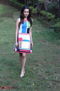 Bollywood Actress Shraddha Kapoor Latest Stills in Colourful Short Dress at OK JAANU Movie Press Conference  0004.jpg