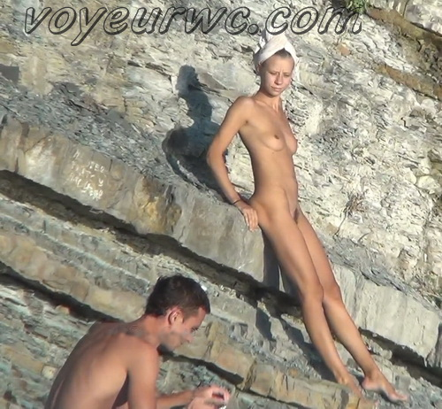 Spy Cam Waterfall Shower 135-144 (Naked women caught on spy cam taking shower natural waterfall)
