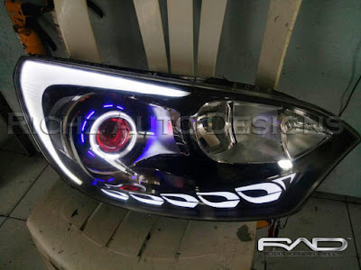 custom headlamp all new kia rio dengan grafity concept