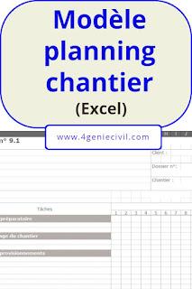 modèle planning chantier excel