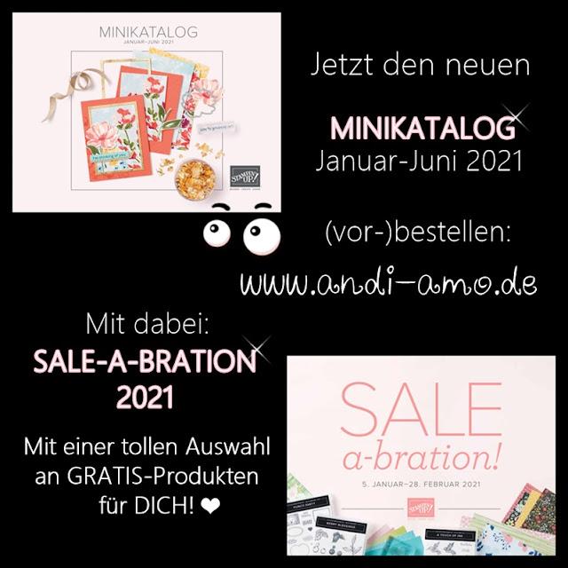 Stampin Up Katalog kostenlos bestellen: Sale-A-Bration und Minikatalog 2021