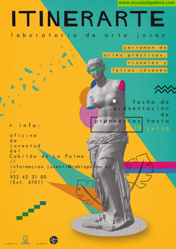 El Cabildo fomenta la creatividad artística de los jóvenes de la isla con un proyecto de exposición colectiva y actividades paralelas