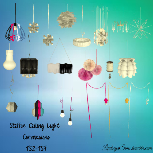 My Sims 4 Blog Ts2 Steffor Ceiling Light Conversions By