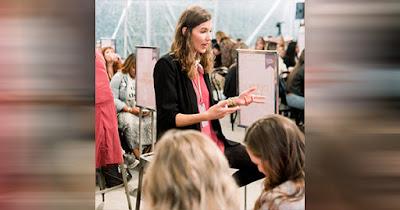 Woman teaching seminar