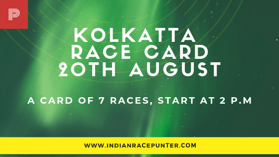 Kolkata Race Card 20 August