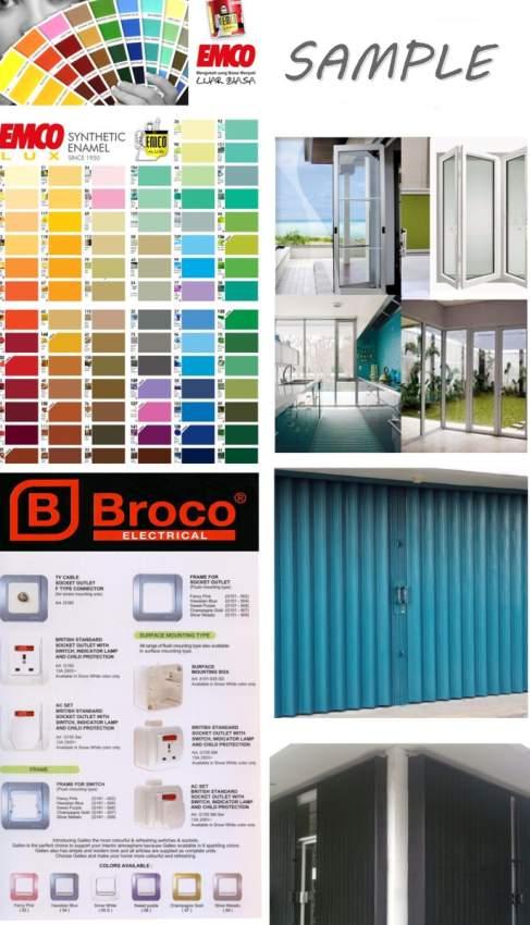 Daftar brosur bahan material pintu kusen cat dan jendela Sni