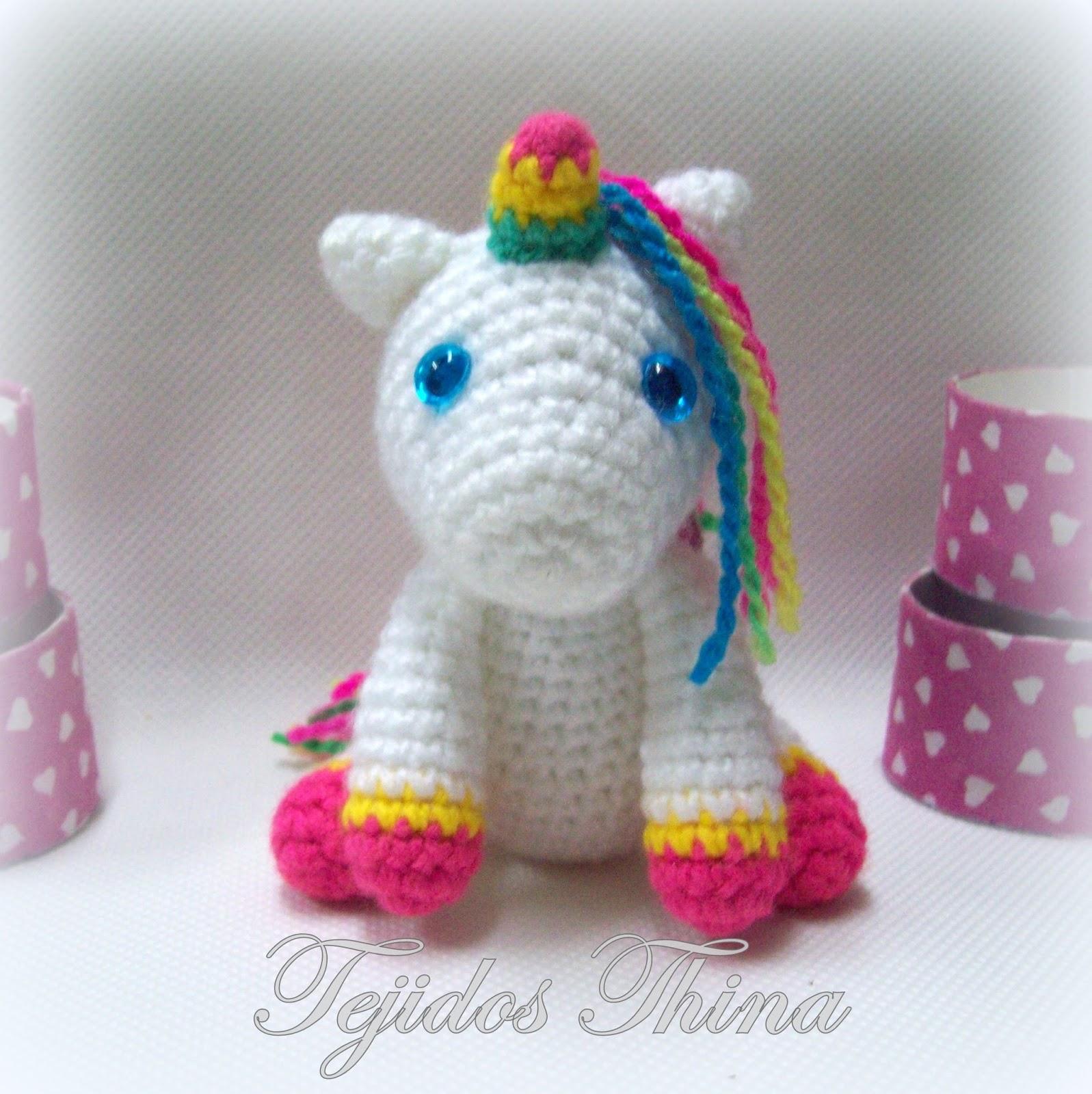 Patrón de Crochet en Inglés y Español - Mimi El Unicornio Amigable ... | 1600x1597