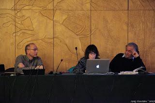 Franck Scherrer, Catherine Destivelle et Gilles Modica à la Mairie de Fontainebleau