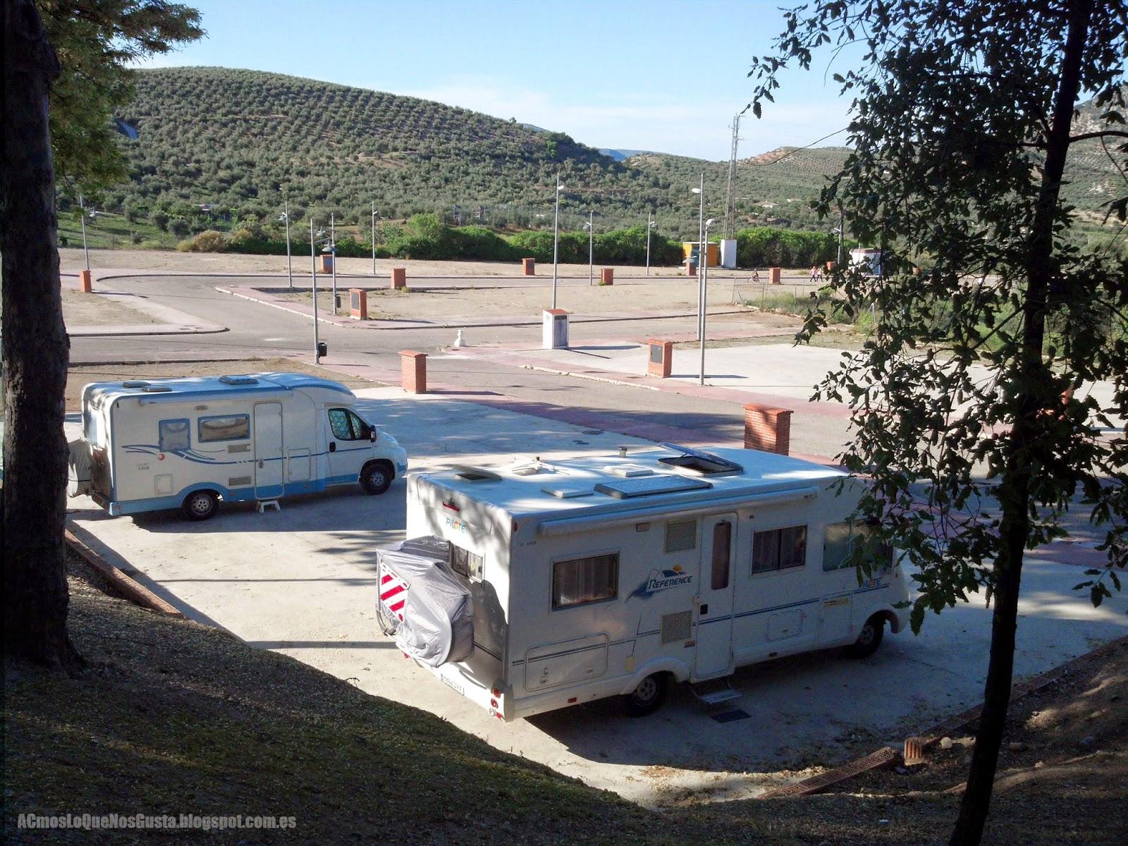 Área autocaravanas Priego de Córdoba
