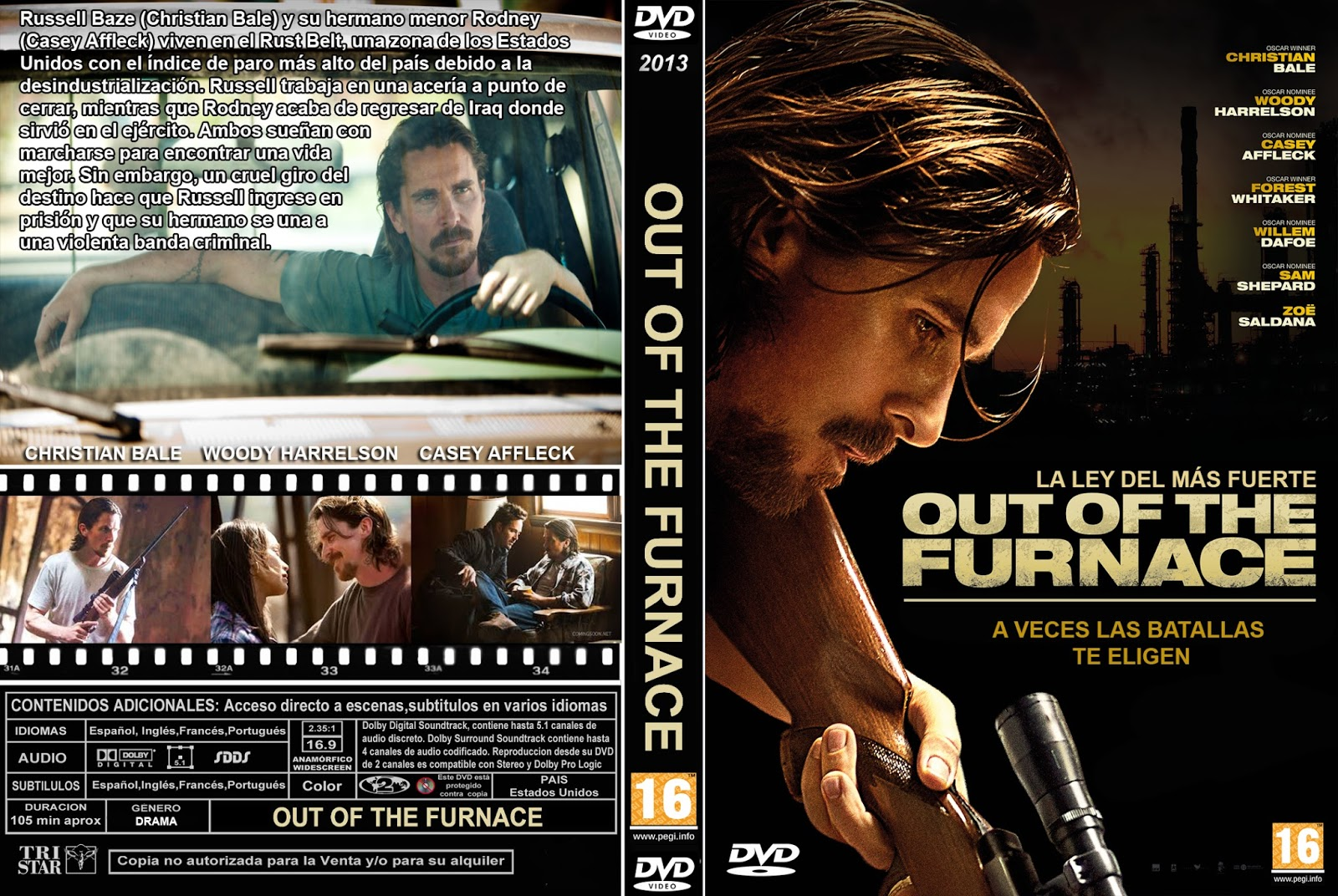 PB | DVD Cover / Caratula FREE: OUT OF THE FURNACE - DVD ...