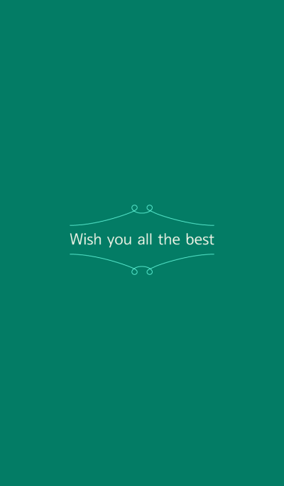 'Wish you all the best' simple theme