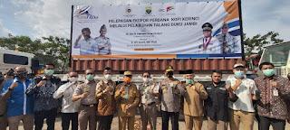 Gubernur Jambi Resmi Melepas Ekspor Kopi Kerinci Ke Belgia Melalui Pelabuhan Talang Duku
