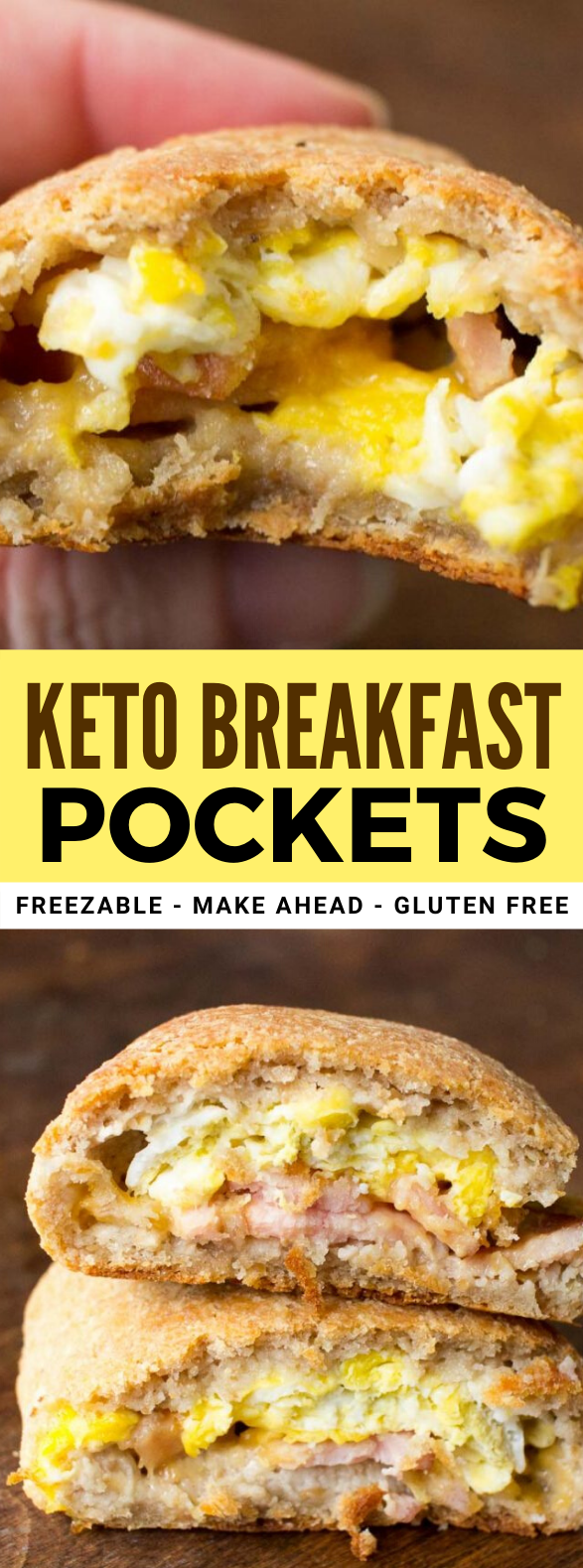 KETO BREAKFAST POCKETS – LOW CARB, GLUTEN FREE, THM S #healthy #diet
