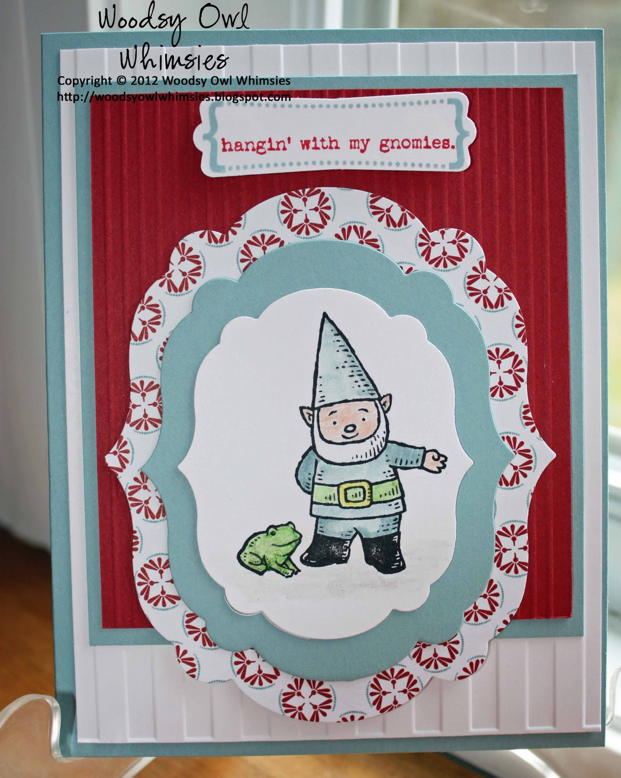 Gnome In Garden: Woodsy Owl's Whimsical World: Hangin' With My Gnomies
