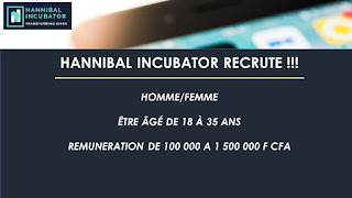 Hanibal Incubator recrute !!!