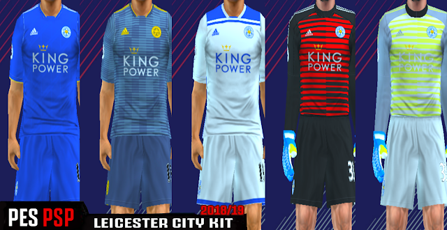 Leicester City 18/19 Kits PES PSP (PPSSPP)