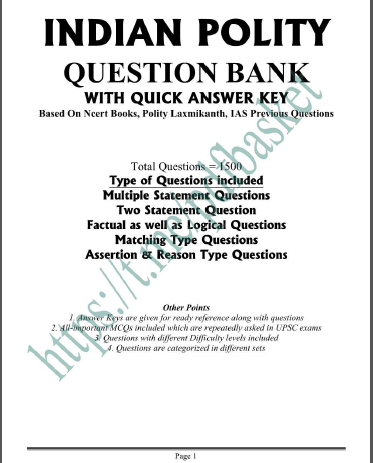 Indian Polity Question Bank : For Bank Service Exam PDF Book