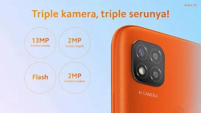 posisi modul kamera Xiaomi Redmi 9C