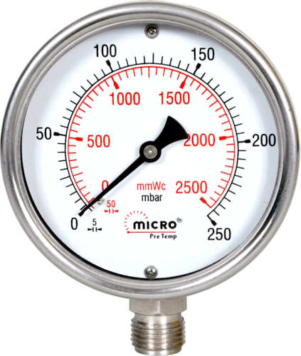 High Pressure Meter : Mep site pressure testing for chilled water piping