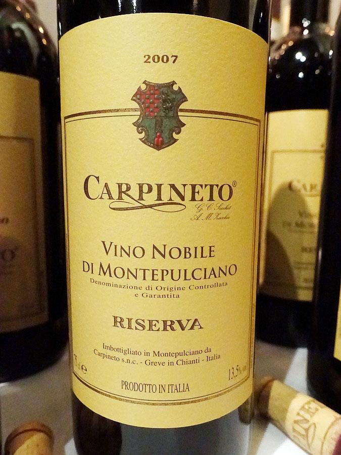 Carpineto Vino Nobile di Montepulciano Riserva 2007 (90+ pts)