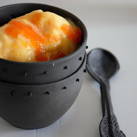 Gelado de pêssego saudável