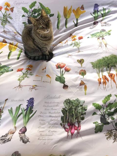 Raised vegetable bed duvet for gardening lovers.