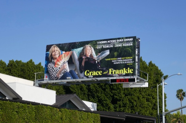 Grace Frankie season 4 SAG Award nominee billboard