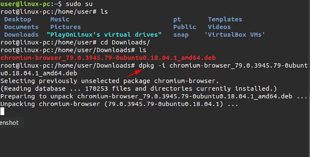 cara install deb di linux