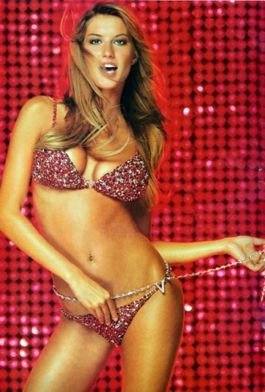 Gisele Bündchen - Red Hot Fantasy Bra/Panties (2000)