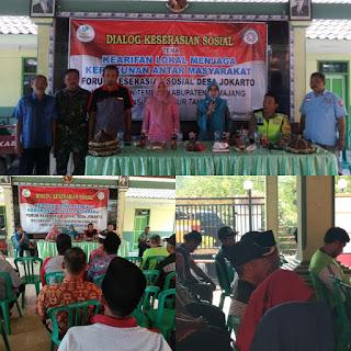 Dinas Sosial Kabupaten Lumajang Sangat Mendukung Kegiatan Dialog Keserasian Sosial Di Desa Jokarto