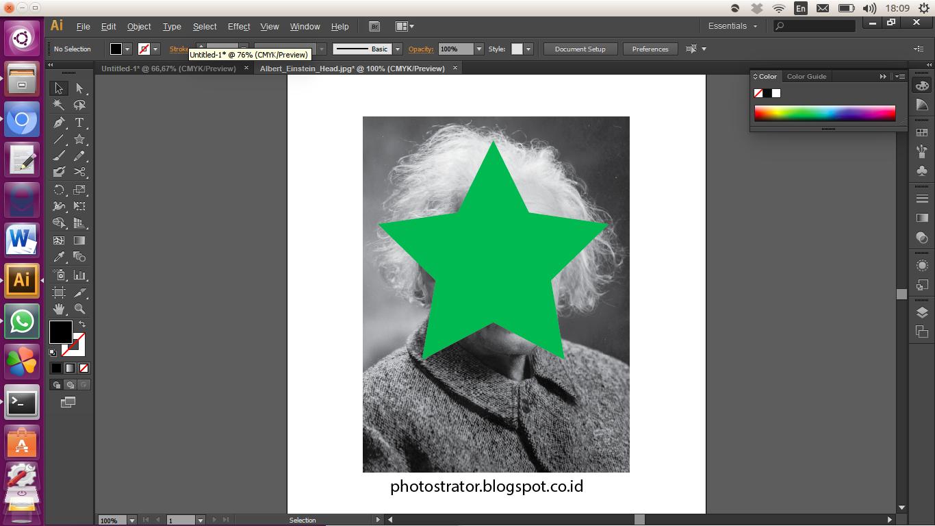 Adobe illustrator - Memotong gambar dengan Clipping Mask - Photostrator