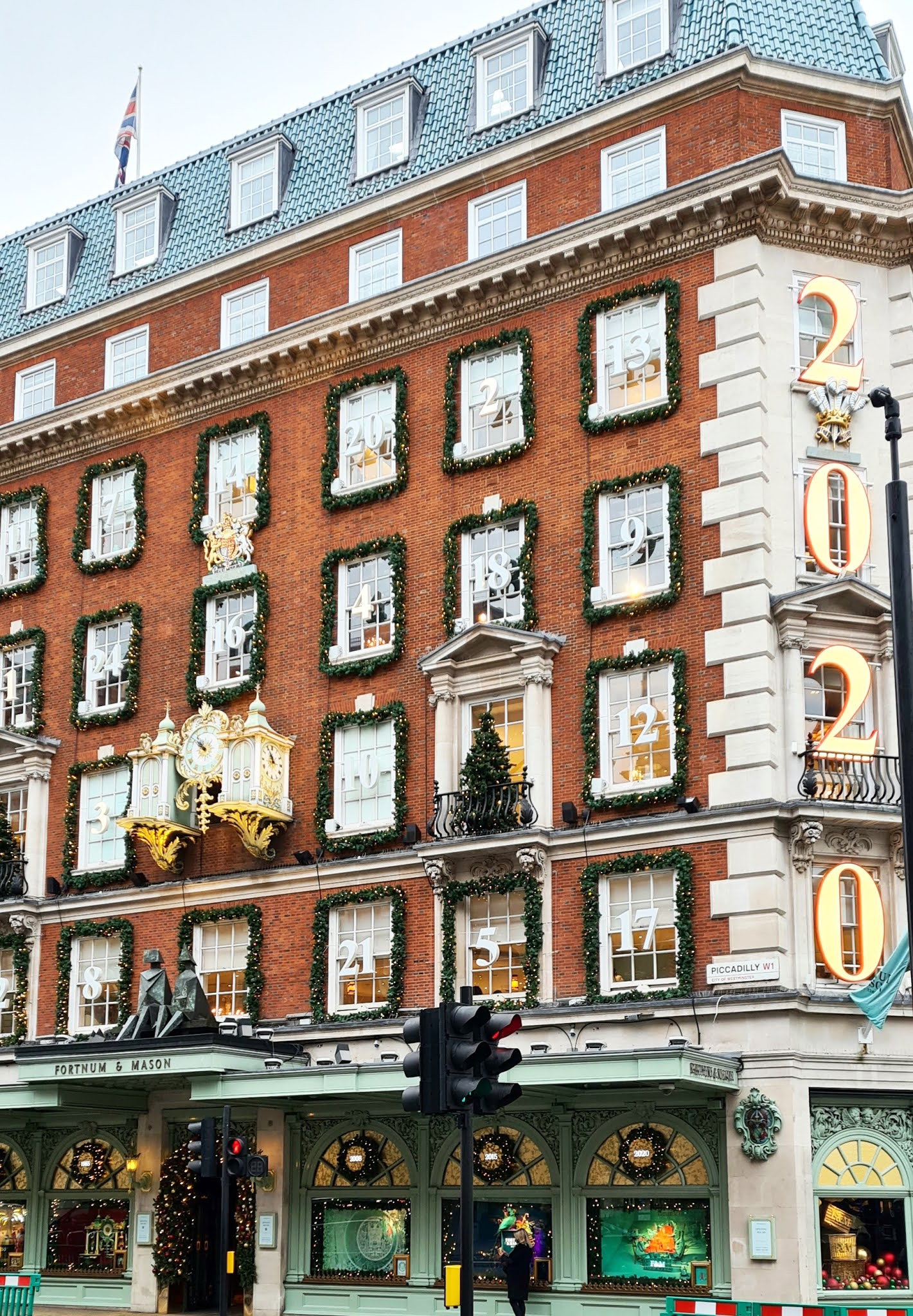 Fortnum and Mason in London, Christmas decorations