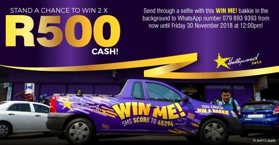 R1 Million ''WIN ME'' Bakkie Selfie WhatsApp Promotion