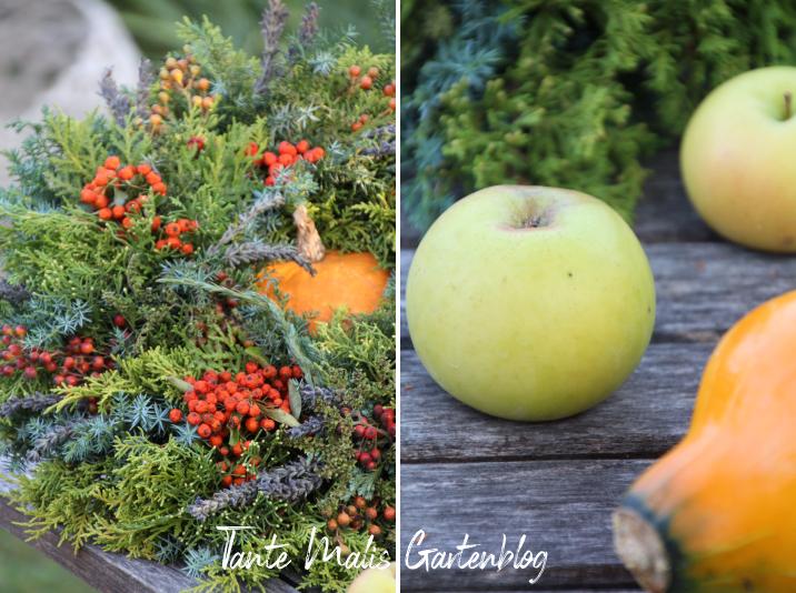Herbstkranz mit roten Beeren selber machen