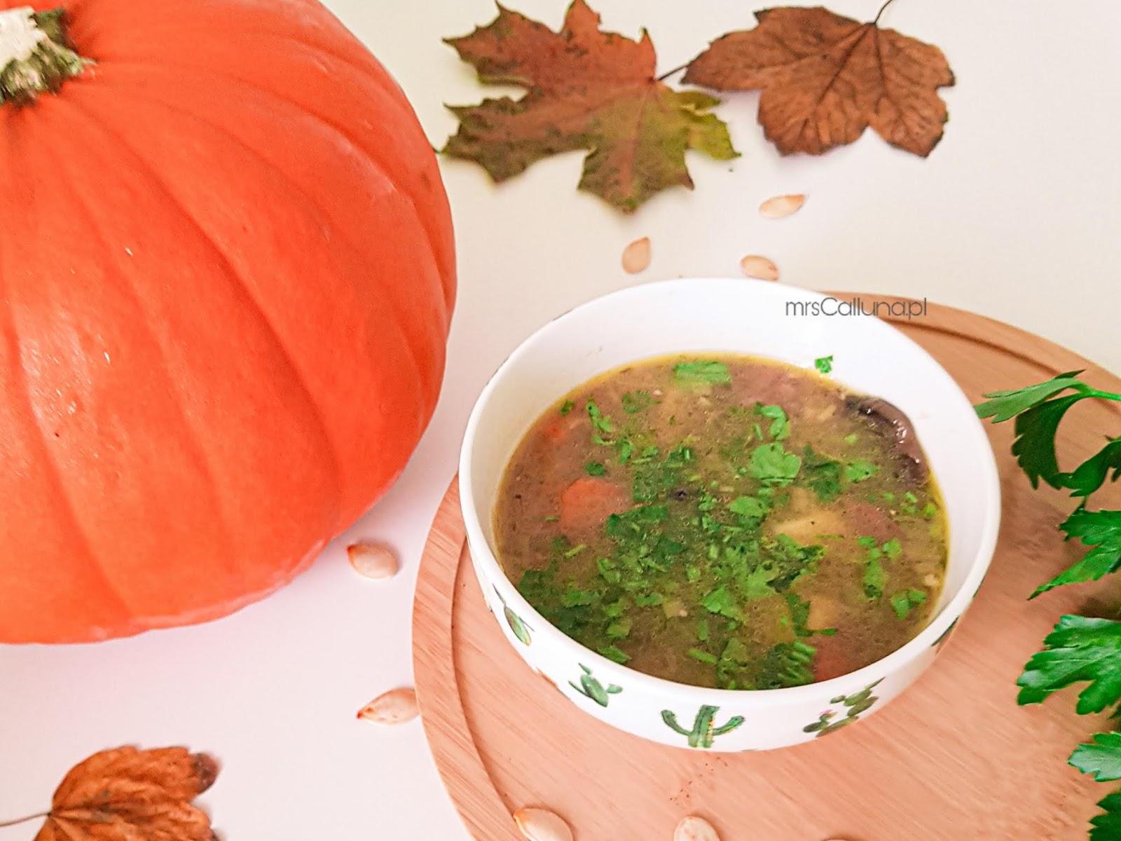 zupa  z grzybów i dyni