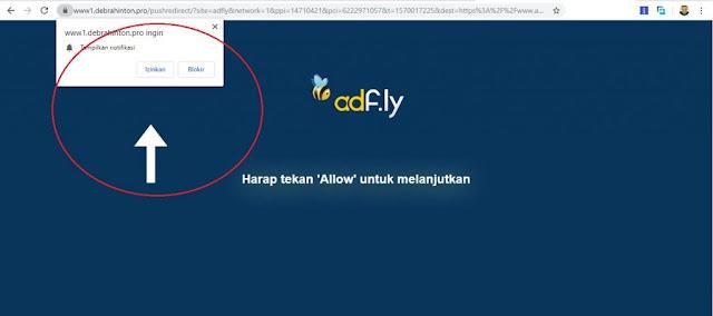 Contoh Iklan Notif ADF ly