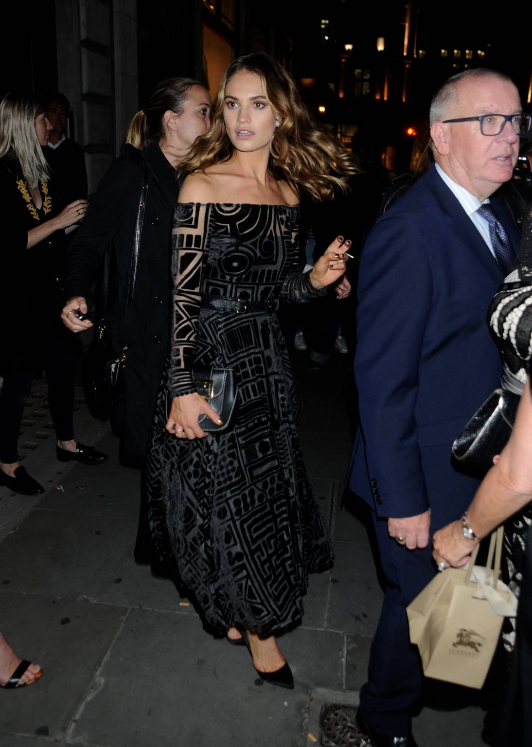 HQ Photos of Lily James – My Burberry Black Campaign Unveiling Party, London