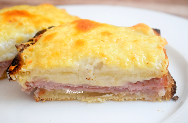 Sándwich Croque Monsieur. Vídeo receta