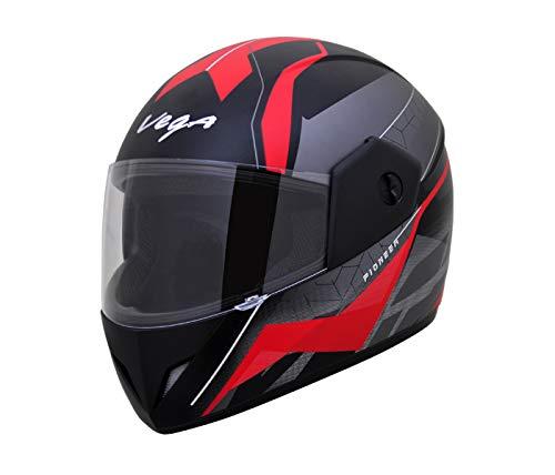 Rs,1288/- Vega Cliff Dx Pioneer Dull Black Red Helmet, L