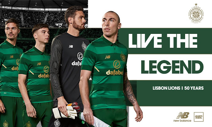 The New Balance Celtic 17-18 away kit introduces a classy look with hoops  in shades of green that are combined with metallic gold accents. 2b9efbda3