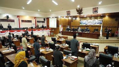 DPRD Tanjab Barat Gelar Rapat Paripurna Penyampaian Nota Keuangan APBD 2021