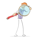 A Man With Magnifying Glass by digitalart