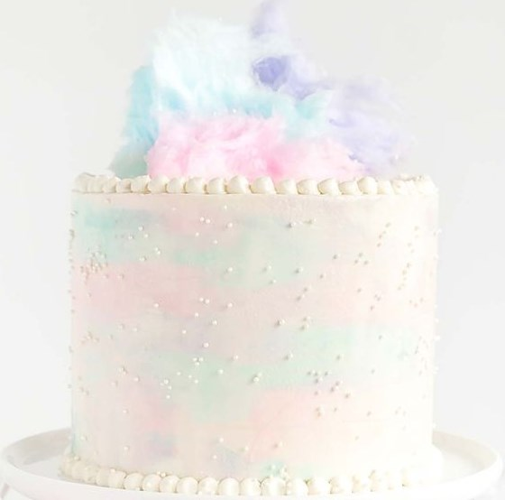 COTTON CANDY CAKE #birthdaycake #desserts