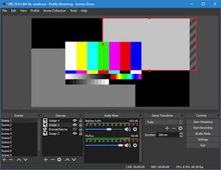 aplikasi perekam layar laptop Open Broadcaster Software